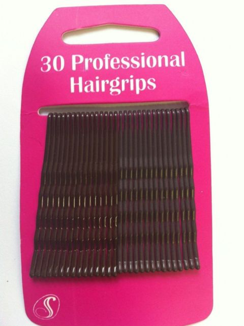 30 Professional Kirby Hair Grips (6cm) Brown